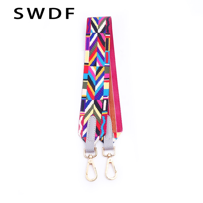 SWDF Bag Accessories Handles Handbags Strap Shoulder Rainbow Color Handbags Belt metal Body Messenger Bag Belt bolsos mujer