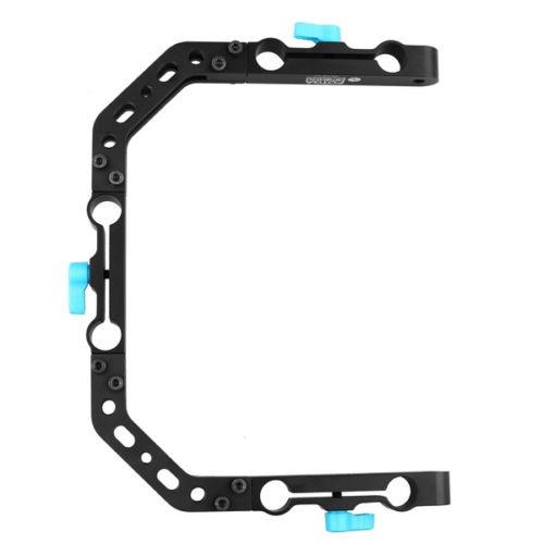 FOTGA DP3000 C-Shape Bracket Cage for 15mm DSLR Rig Rail Support System fotga dp3000 top handle c cage bracket support rig for 15mm dslr rod follow focus