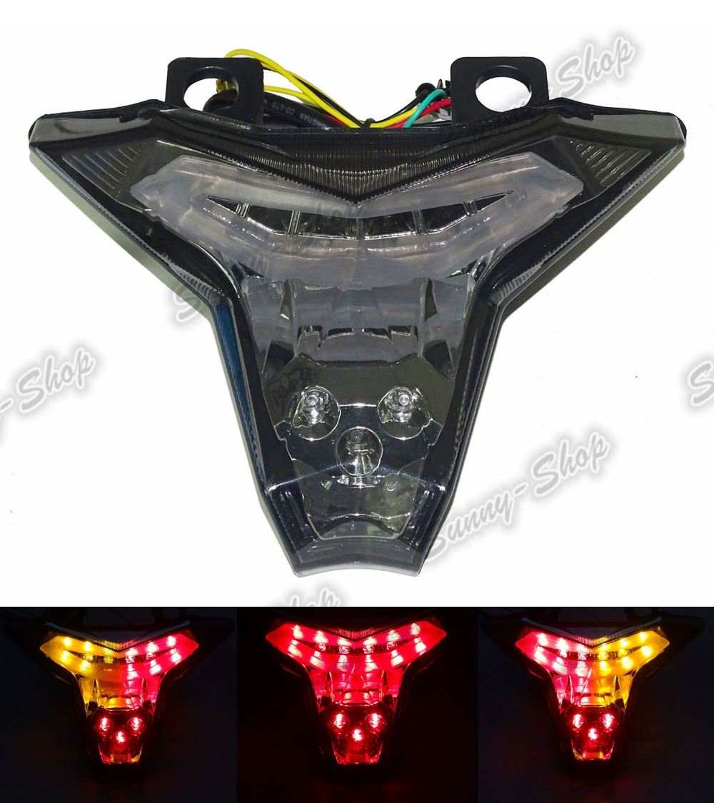 Motorcycle Rear Taillight Tail Brake Turn Signals Led Light Smoke For KAWASAKI Z1000 ZR1000 ABS ZRT00F 2014 2015 2016 for geely mk1 mk2 rear taillight brake lights turn signals light