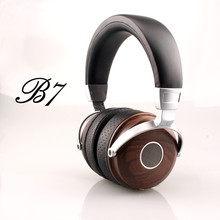 Promotion Bosshifi B7 Wood Headphones Headset DJ Metallic Hifi Headphone Stereo Open Monitor Earphone With Beryllium Alloy Driver