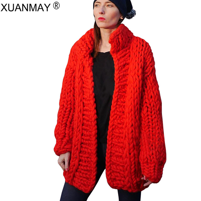 2018 New thick cardigan sweater coat handmade 5XL code sweater coat women s  shawl Loose and soft large women cardigan sweater 41d1de067