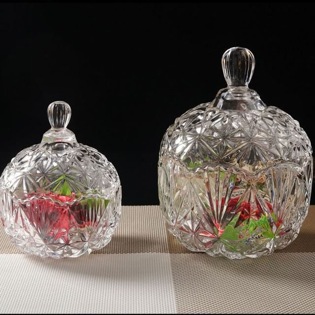 Well-liked Household items Crystal glass candy jar European style fashion  TX47
