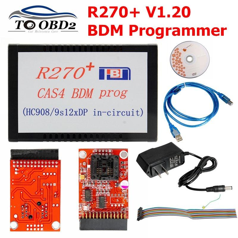 High Quality R270+ V1.20 Auto CAS4 BDM Programmer R270 CAS4 BDM Programmer Professional For Bmw Key Prog Free Shipping