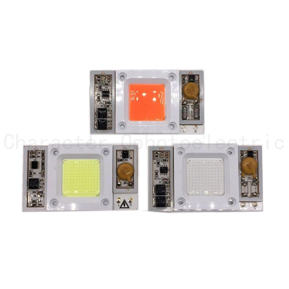 50 W 110 V/220 V AC led de Alta Potência chip embutido no driver branco Quente Branco Fresco 10000 20000 30000 k LEVOU, azul Royal LEVOU Espectro completo
