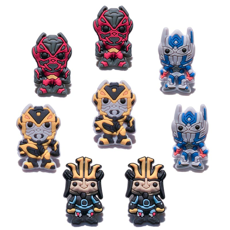 Transformers Bands: Free Shipping Novelty 8PCS Transformers PVC Shoe Charms