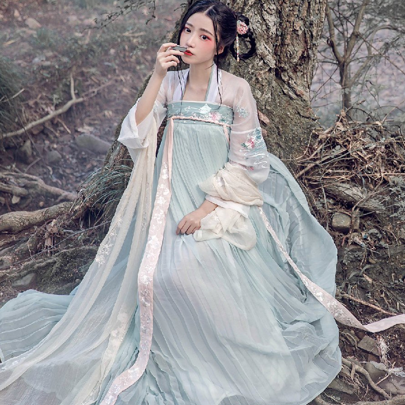 Hanfu Women Chinese Dress China Ancient Fairy Princess Costume Traditional Hanfu Female Dress & Girl Tang Suit Costume