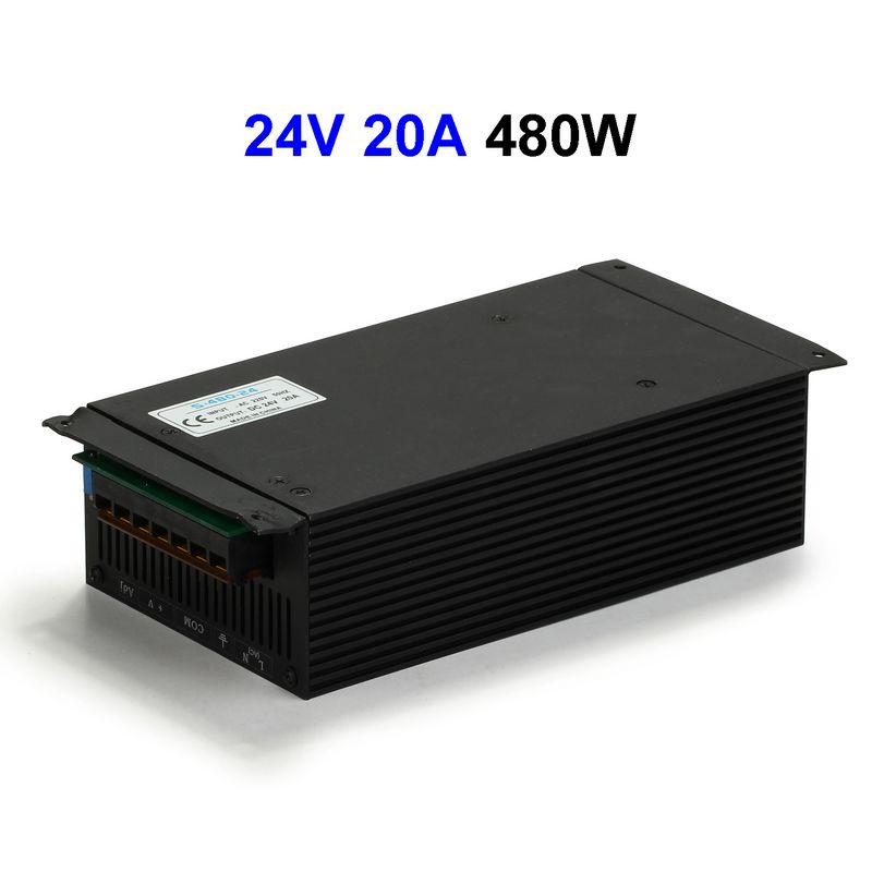 цена на 10pcs DC24V 20A 480W Switching Power Supply Adapter Driver Transformer For 5050 5730 5630 3528 LED Rigid Strip Light