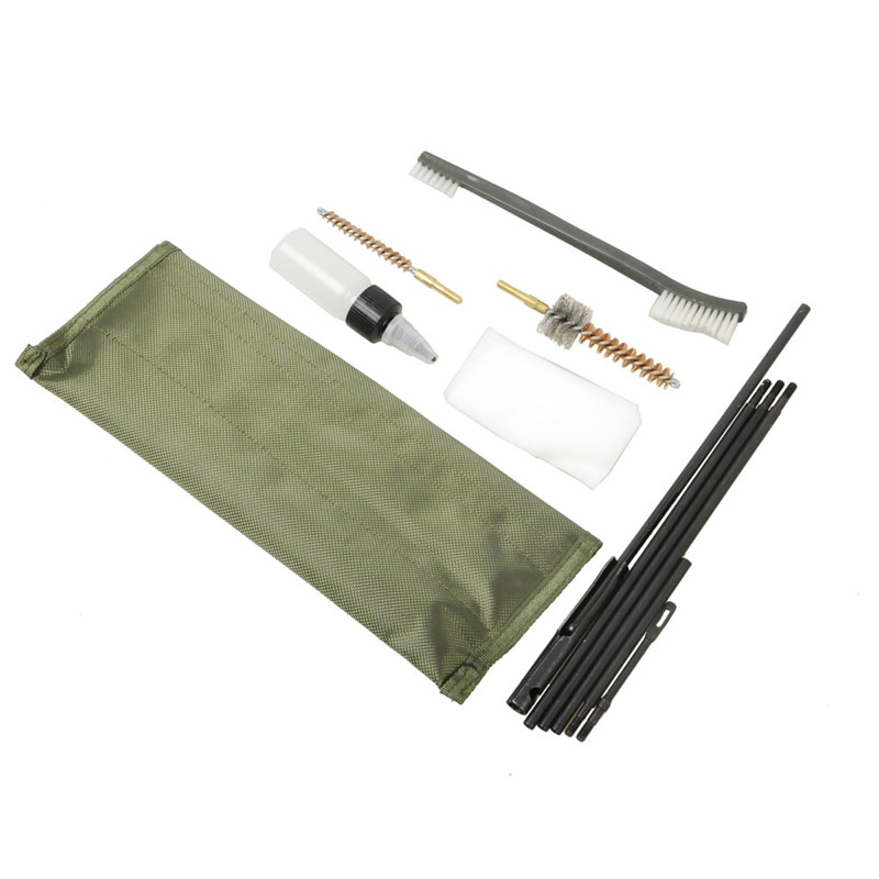 New Arrival 10 Piece .22cal 5.56mm Rifle Gun Cleaning Kit Set Cleaning Rod Nylon Brush Cleaner Gun Accessories Clean Tools4