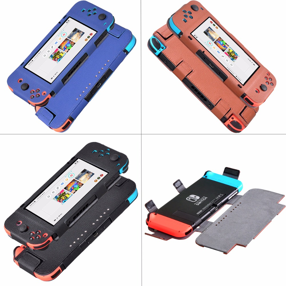 6.2 inch Skin Luxury PU Leather Case Cover For Nintendo Switch Controller Video Game Consoles Bag