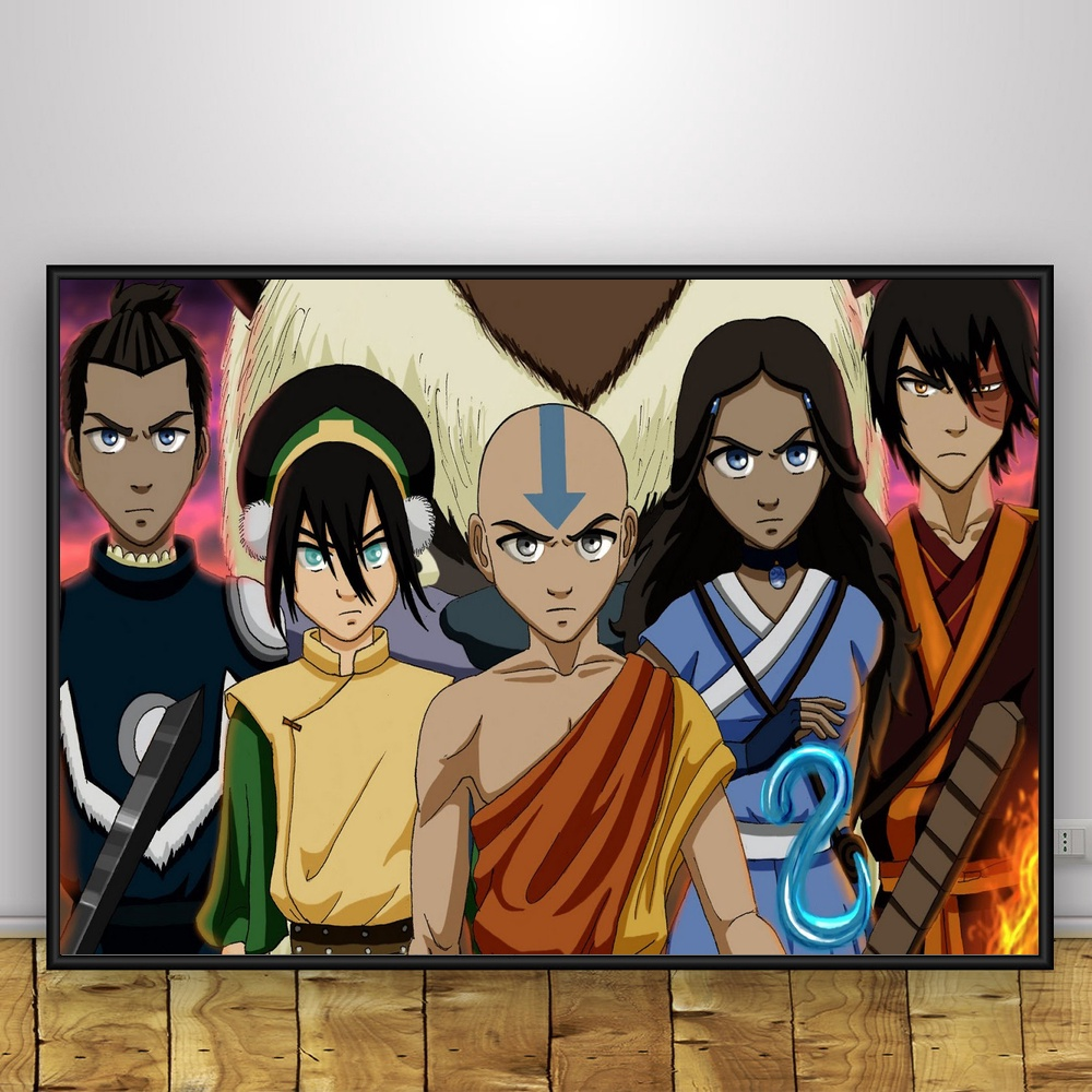 Avatar The Last Airbender Cartoon Anime Art Silk Poster 12x18 24x36