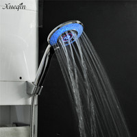 Xueqin Automatic Gradual Changing Water Glow Led Shower Head 3 LED Colors 3 Different Modes Temperature Display Sense Control