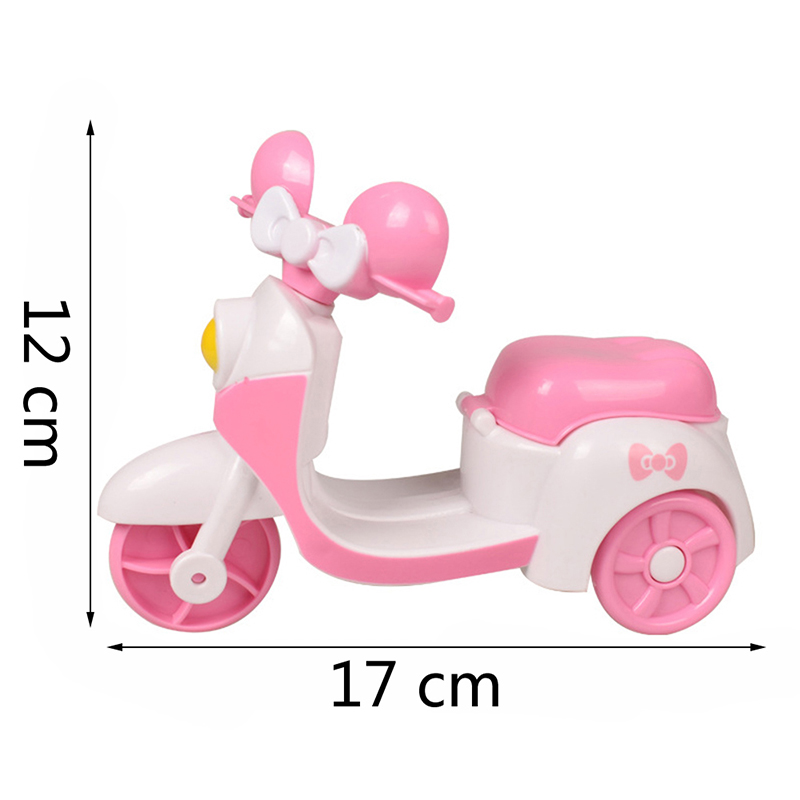 Doll Pink Motorcycle Toys Open Car Doll Toy Traffic Accessories
