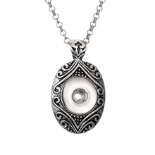 New Elegant Ethnic Style The Bloomer Snaps Necklace & Pendants Fit DIY 18MM Snap Buttons Jewlery With Chain