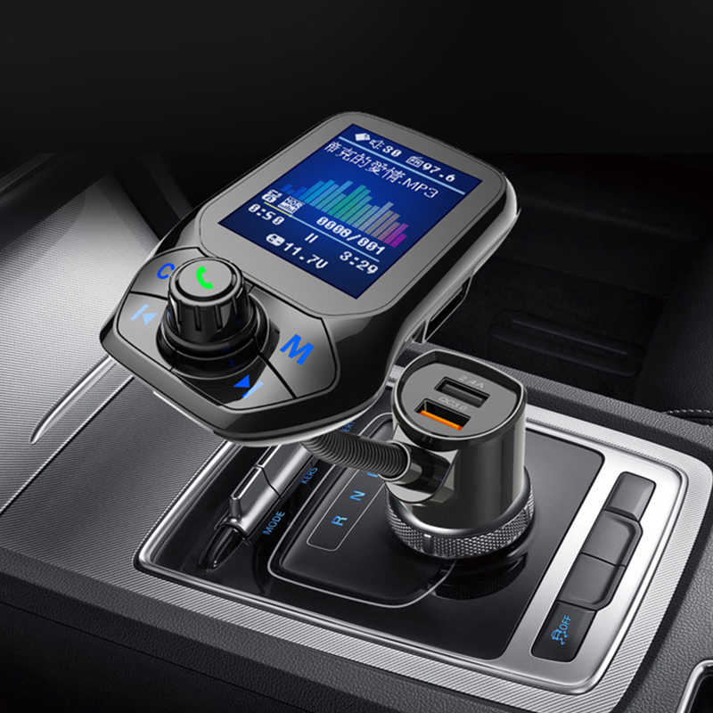 Voiture lecteur MP3 Bluetooth allume-cigare chargeur Auto double USB Charge véhicule main-libre musique voiture QC 3.0 chargeur 12V prise