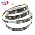 1M 32 Pixels WS2801 5050 RGB White/Black PCB Dream Color LED Strip Addressable # 5V