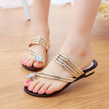 Women shoes Slippers Summer 2016 fashion Rhinestone women Slippers shoes new Slippers