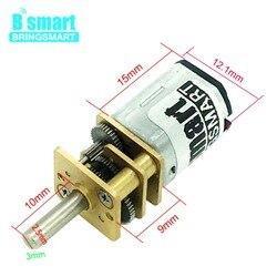 Редукторный двигатель Bringsmart 3 в 6 в 12 В 15-1500 об/мин N20 постоянного тока с обратным управлением и низким уровнем шума для электронного оборудов...