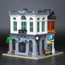 WAZ Compatible Legoe 10251 Lepin 15001 2418 pcs Brique Banque Modèle blocs de construction briques jouets pour enfants