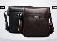 P KUONE New Casual Cowhide Genuine Leather Men Messenger Bag Man Fashion Shoulder Bag For Ipad
