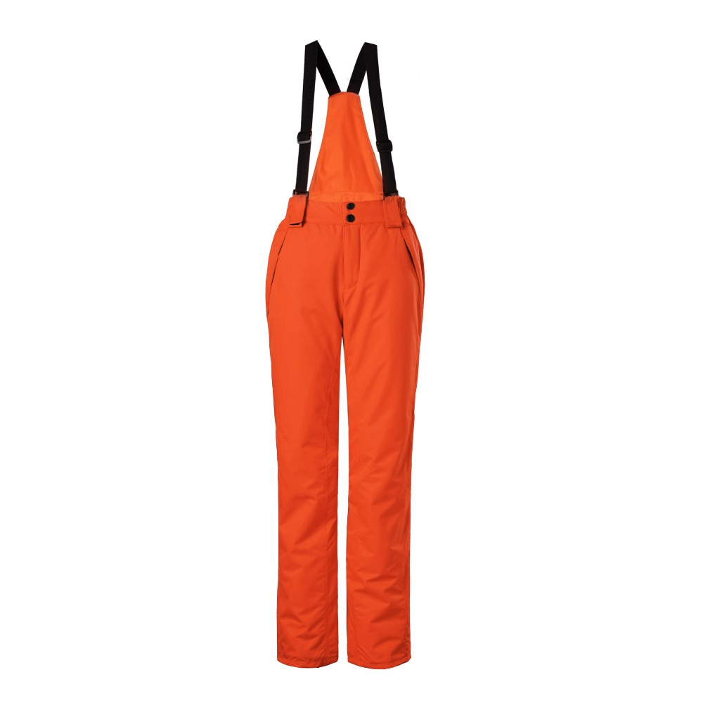 2016 winter orange snowboard overalls ski pants women suspenders waterproof womens snow pants pantalon ski femme