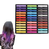 New 36Pcs Fashion Non Toxic Temporary Color Hair Chalk Dye Pastels Free Shipping