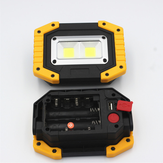 new Outdoor Survival Camping Light Rechargeable COB Flashlight LED Work Light 18650 20W Large high brightness USB light 3
