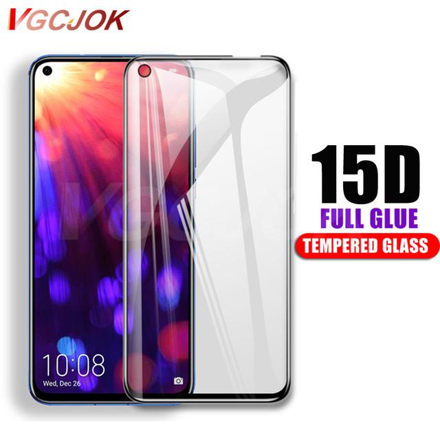 15D Protective Glass For Huawei Nova 4 Nova4 Full Glue Cover Tempered Glass For Huawei Honor V20 View 20 Screen Protector Film