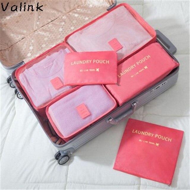 11ce5793457f 6PCS Set High Quality Oxford Cloth Travel Mesh Bag Luggage Organizer  Packing Cube Organiser Travel Bags Organizador Women Bag