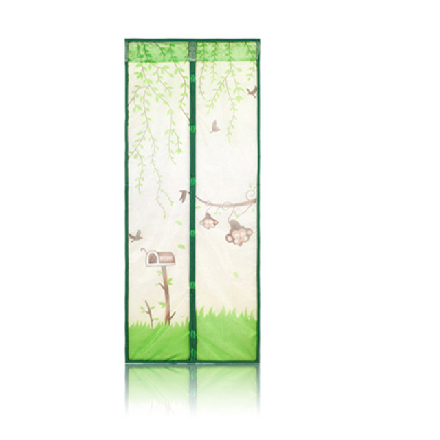 2017 New Arrival Magnetic Mesh Screen Door Mosquito Net Curtain Protect from Insects Four Colors 100*210cm Household Easy to Set