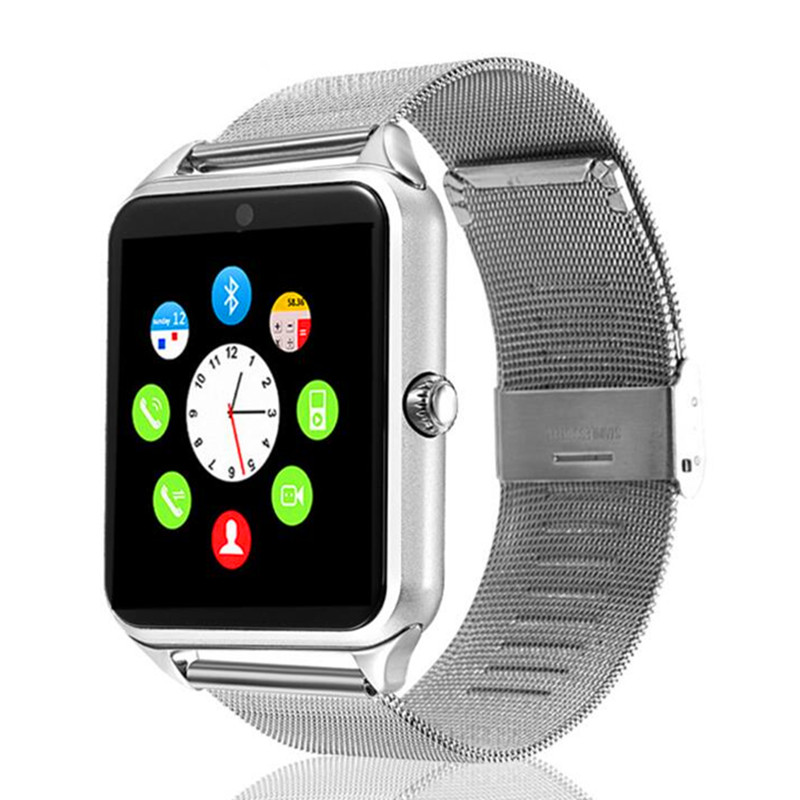 Z60 Smart Watch Metal Clock With Sim Card Slot Push Message Bluetooth Connectivity Android IOS Phone Smartwatch PK S8 SIM Card