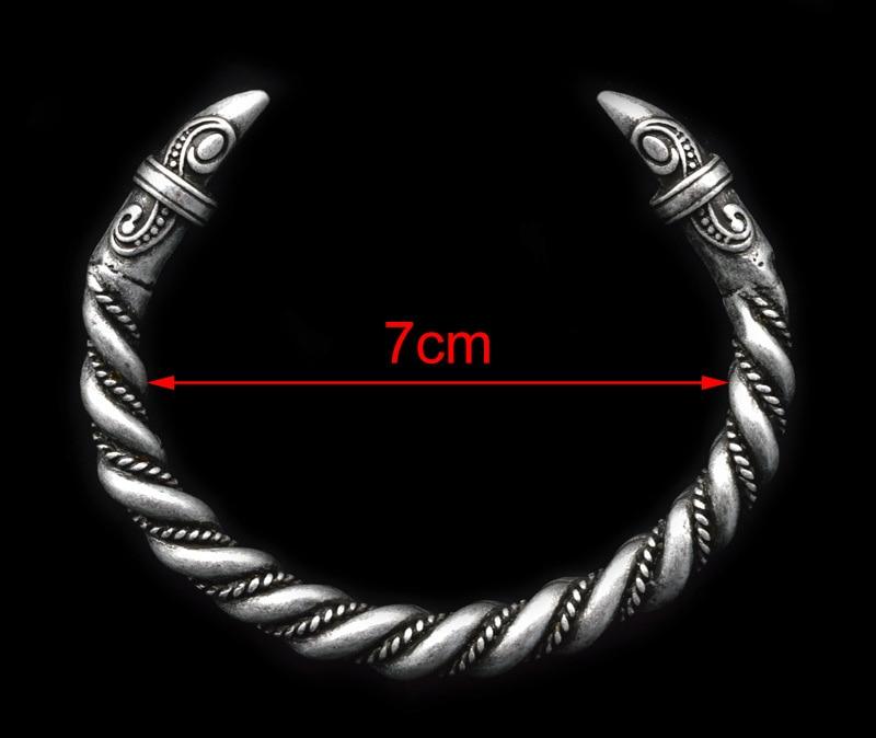 XINYAO Retro Otvoreni Fenrir Zmaj Viking narukvice Bangles za - Modni nakit - Foto 6