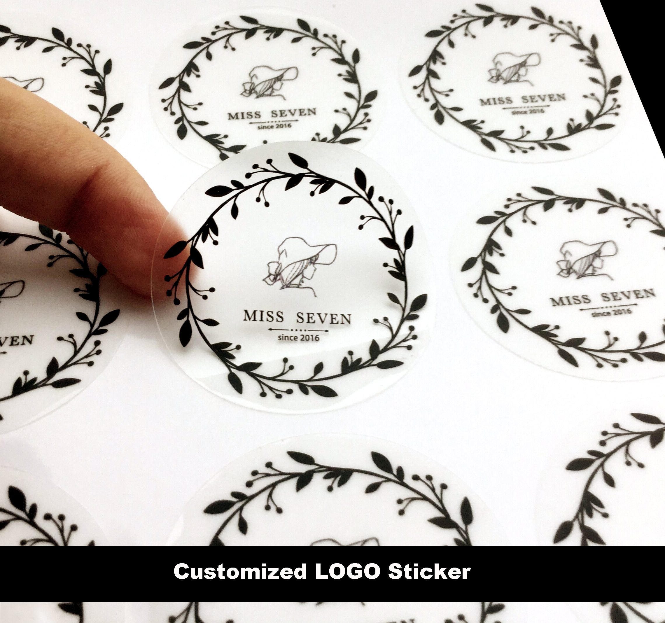 Customize LOGO Transparent Sticker Brand Label Sticker Kraft Paper/MATTE GOLD/Silver Logo Sealing Stickers Wholesale 120pcs lot circular cursive writing thank you adhesive kraft seal sticker for baking gift label stickers funny diy work