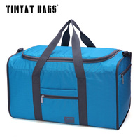 Tinyat Portable Travel Bags Folded Women Travel Bag Easy Carrying Molle Oudoor Hiking Pack Man Tote