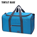 TINYAT Portable Female  Bags Folded Women Handbag High Capacity Waterproof Nylon Easy Carrying Pack Man Bag Sky Blue T306