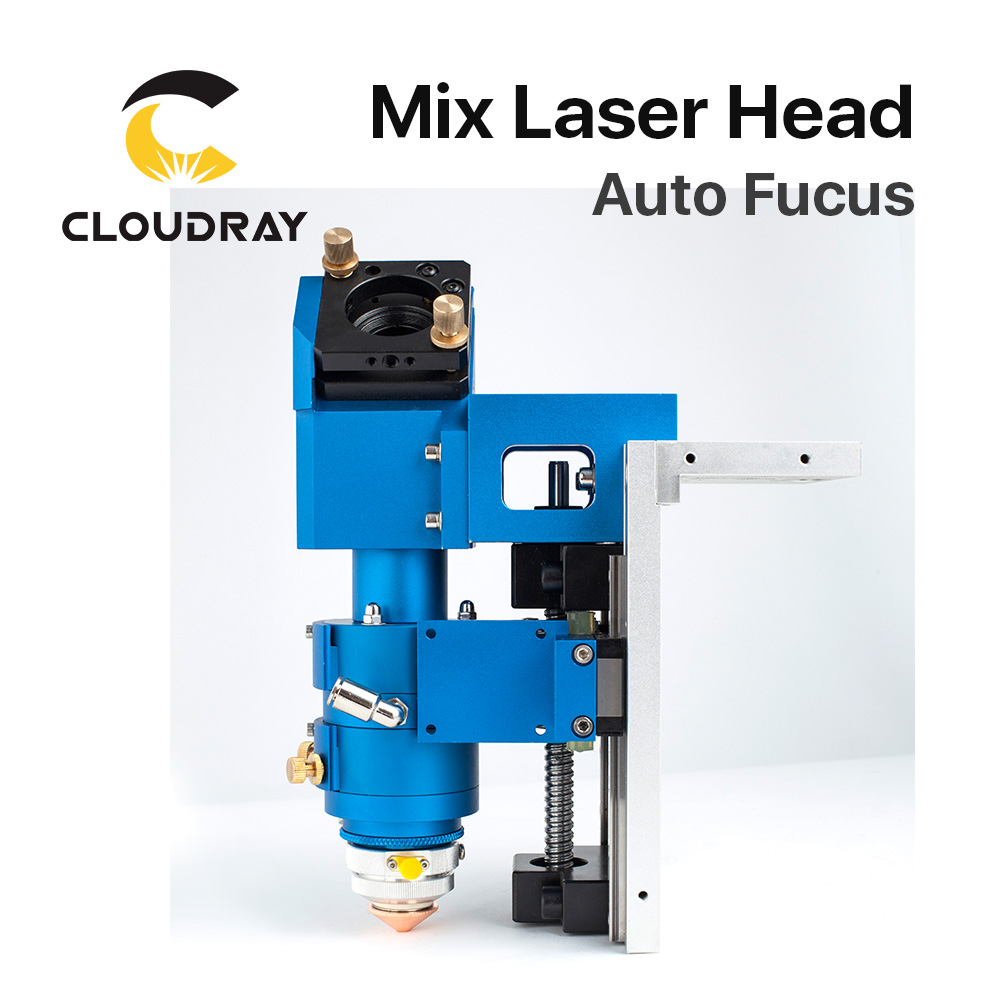 Cloudray 500W CO2 Laser Cutting Head Metal and Non-metal Mixed Cut head Motor And Driver for Laser Cutting Machine LASER HEAD