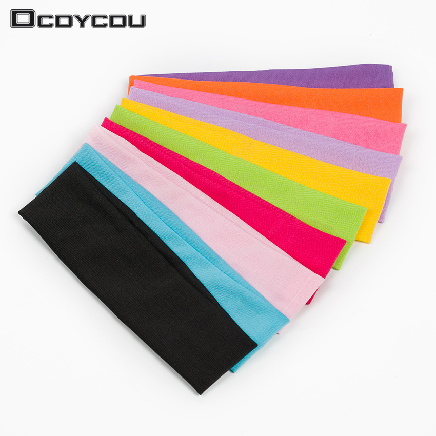 5 PCS Fashion Style Absorbing Sweat Headband Candy Color Hair Band Popular Hair Accessories for Women new design milk silk material fashion style lady wide yoga hair band sport sweat headband popular hair accessories for women