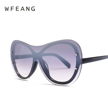 WFEANG 2019 Sunglasses Women Luxury Brand Designer Women Gradient Vintage Sun Glasses Female Goggle Eyewear Oculos De Sol uv400 fashion sunglasses women brand designer multicolor sun glasses for women driving eyewear oculos gafas de sol uv400 goggle