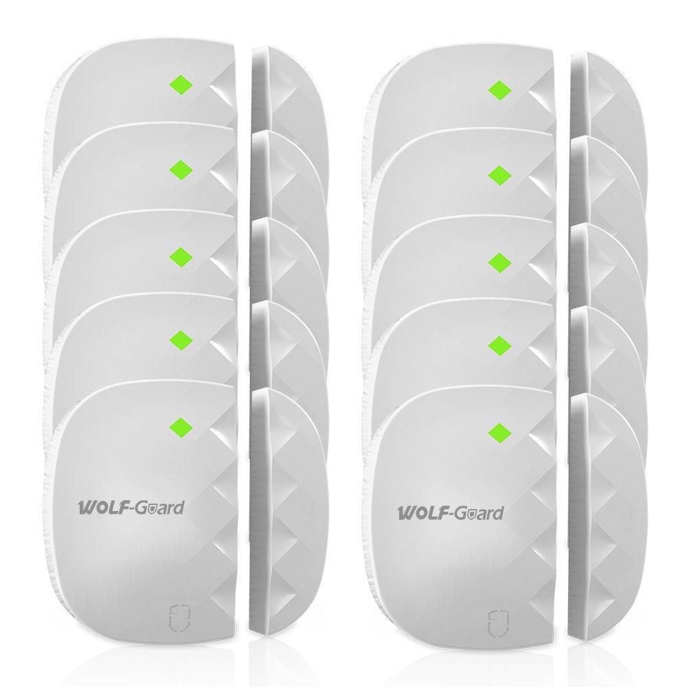 10 pcs Door Sensor Wireless Door&Window Magnet Sensor Detector for Home Security GSM Panel Sensitivity Alarm Burglar System стоимость