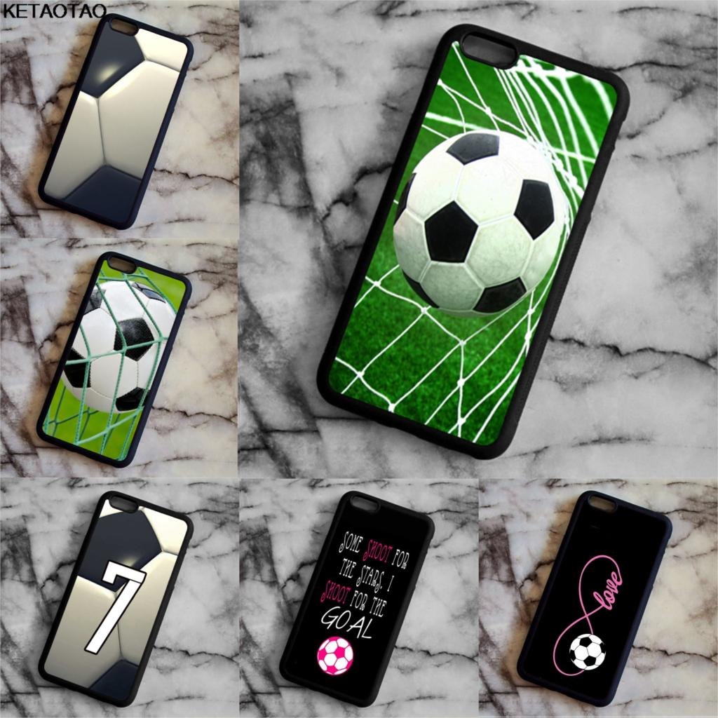KETAOTAO Personalized Number Name Soccer Foot Ball Phone Cases for iPhone 4S 5C 5S 6 6S 7 8 Plus X Case Soft TPU Rubber Silicone