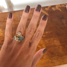 Oval 3pcs Moonstone Ring Rose Gold Rings for Women Anillos De Bizuteria peridot  D30