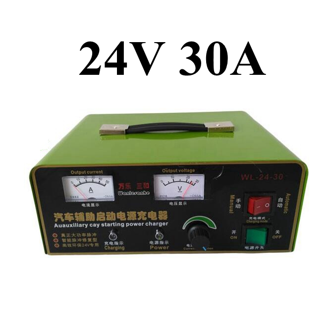 Intelligent 24V 30A Lead Acid Battery Charger Car Auauxiliary Starting Charger For Tractor forklift Battery 120-800AH 220v to dc 24v battery charger for lead acid battery