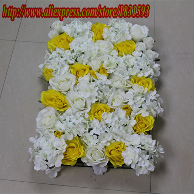 10pcs lot ivory and yellow high grade artificial silk rose and 10pcs lot ivory and yellow high grade artificial silk rose and hydrangea flowers wall mightylinksfo