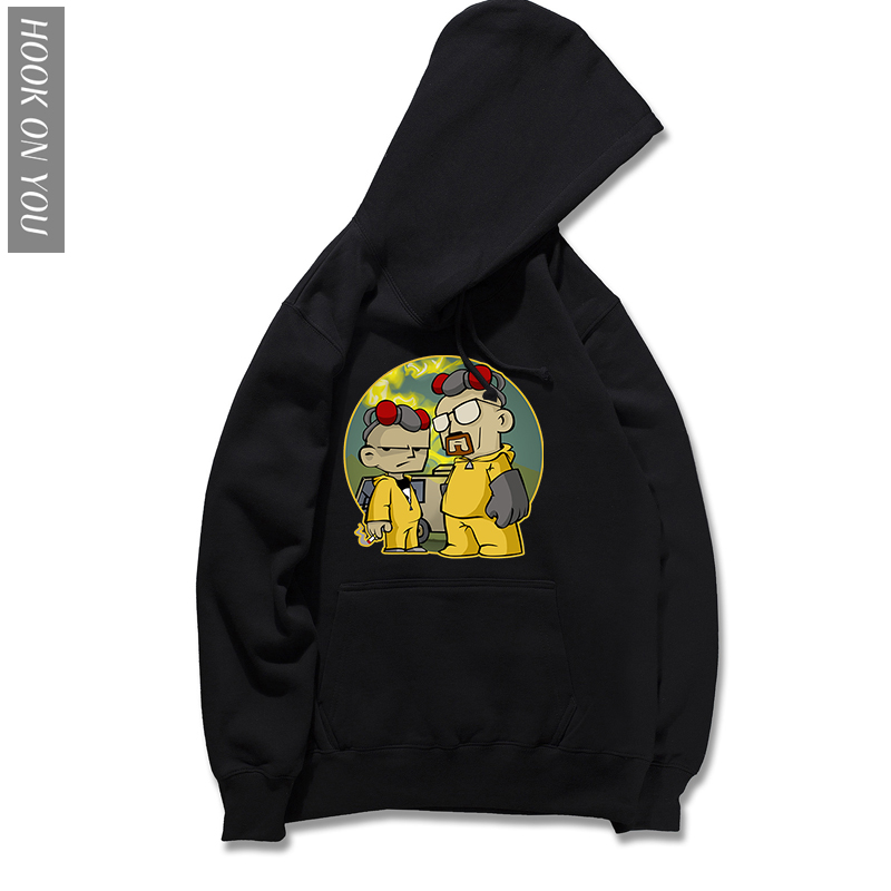 Breaking Bad Hoodie Funny Chicken Brothers Printed Hoody 2018 New Autumn Men's Hoodies Sweatshirts Cotton Long Sleeve