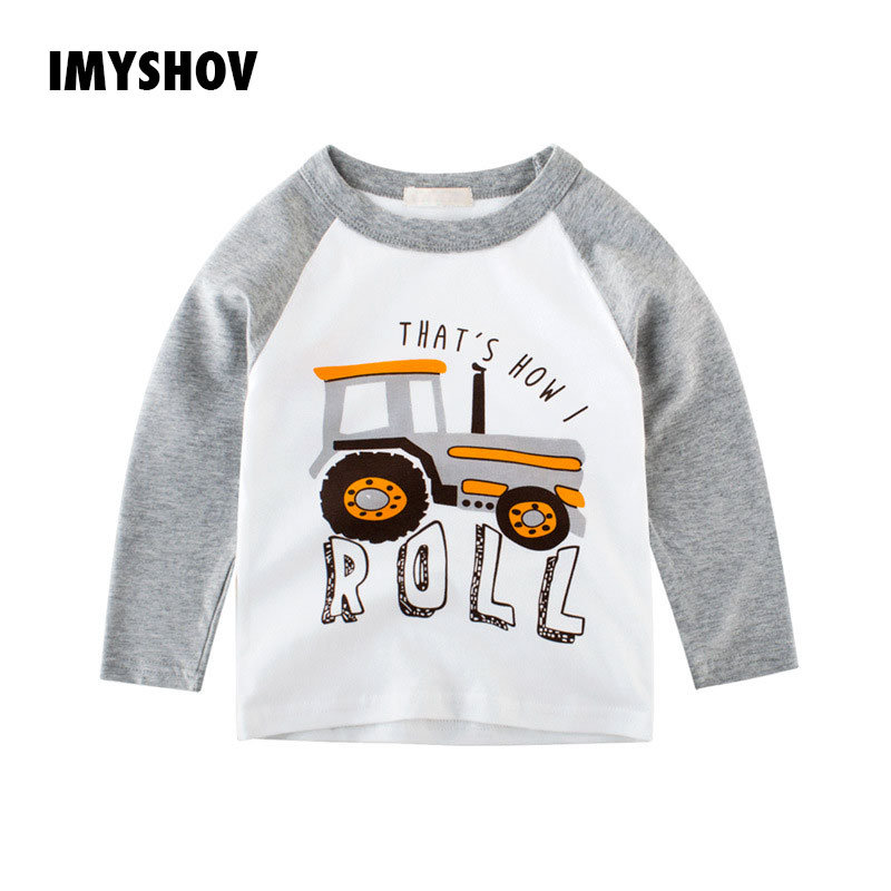 Cotton Cartoon Print T-Shirt Long Sleeve Boys T Shirt For Baby Boy Tshirts Kids Tshirt Tops Toddler Shirts Children Clothes Top image