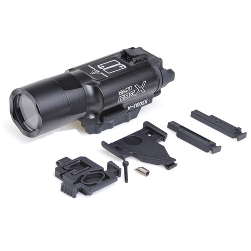 Hunting Element Airsoft EX359 Tactical X300 Ultra LED Weapon Light Pistol lanterna Airsoft Flashlight with Picatinn (Two color) hot sale new tactical flashlight x300 ultra led weapon light for hunting for shooting cl15 0040
