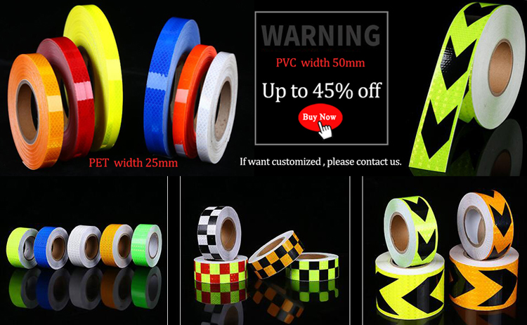 Universal Reflective Conspicuity Tapes DOT-C2 Safety Warning Sign 5CMx10M Yellow