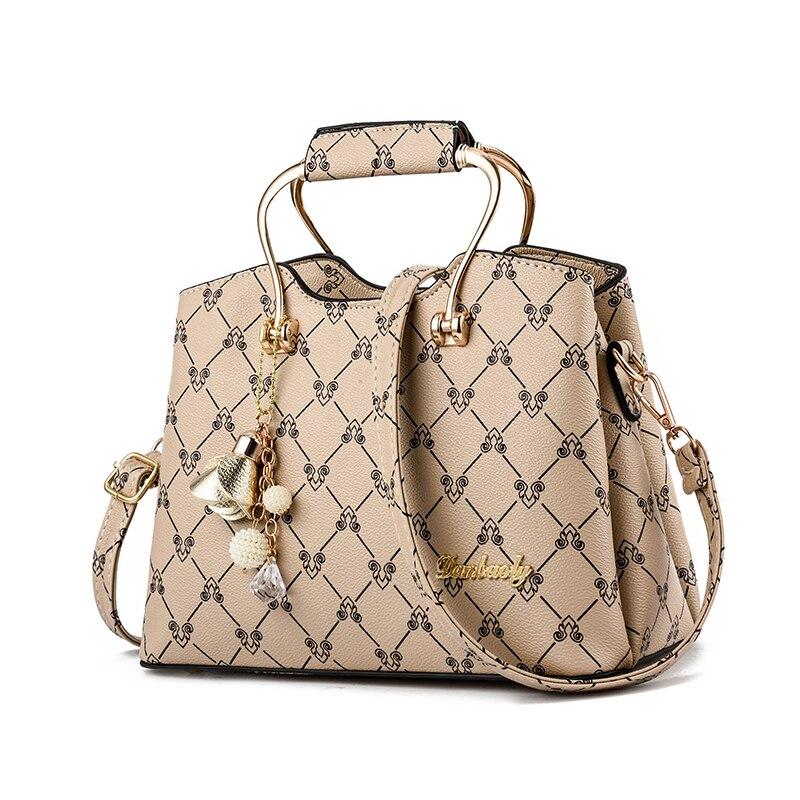 fa2546a77912 Для женщин кожа Сумки Мода Сумка Брендовые женские сумка Винтаж дамы печати  сумка Bolsa Sac Луи