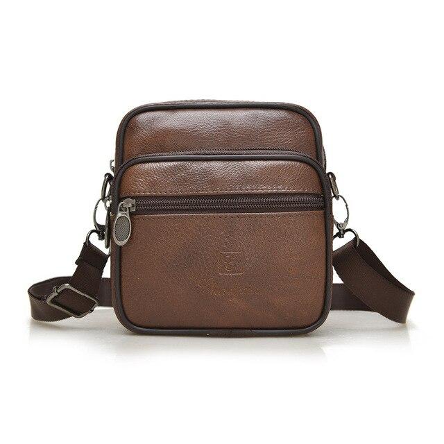 New! высокое качество натуральная кожа человек мешок небольшой мешок плеча ретро мода деловой стиль высококлассные небольшой площади сумка сумка