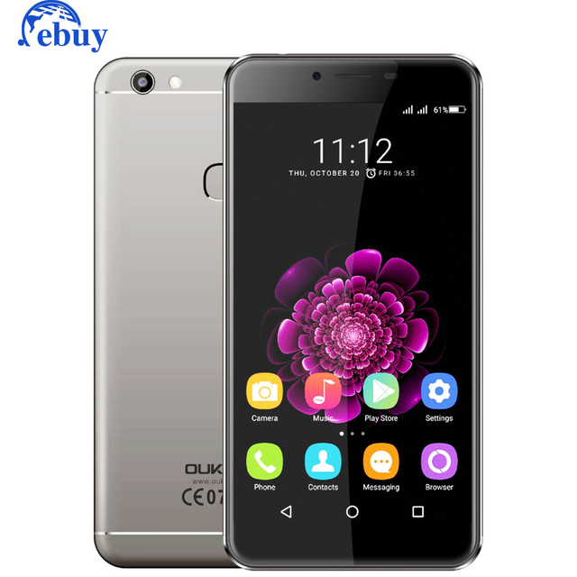 Original OUKITEL U15S 4G Mobile Phone Android 6.0 Smartphone MTK6750T 1920X1080 4GB+32GB Octa Core 2450mAh Fingerprint Phone