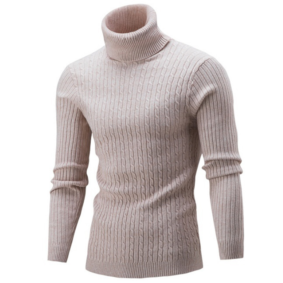 ZOGAA Warm Turtleneck Sweater Men Fashion Solid Knitted Mens Sweaters 2019 Casual Cotton Male Double Collar Slim Fit Pullover